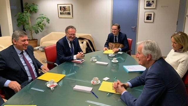 Minister-president Jambon and EU Chief Negotiator Michel Barnier