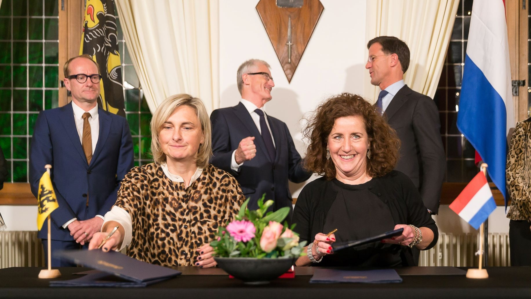 Ministers of Education Crevits and  Van Engelshoven