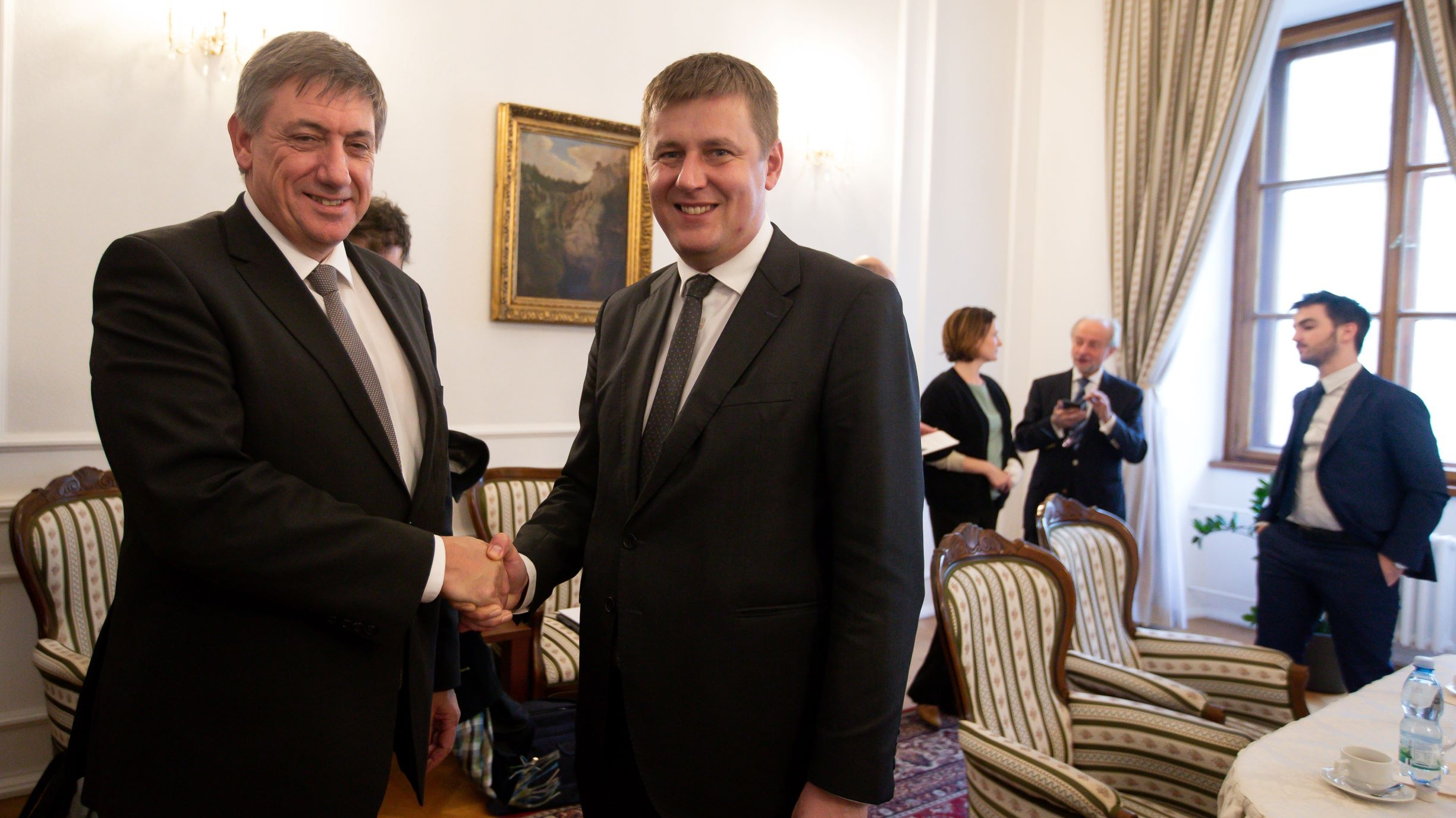 Minister-president Jambon and Czech Minister  of Foreign Affairs  Petricek
