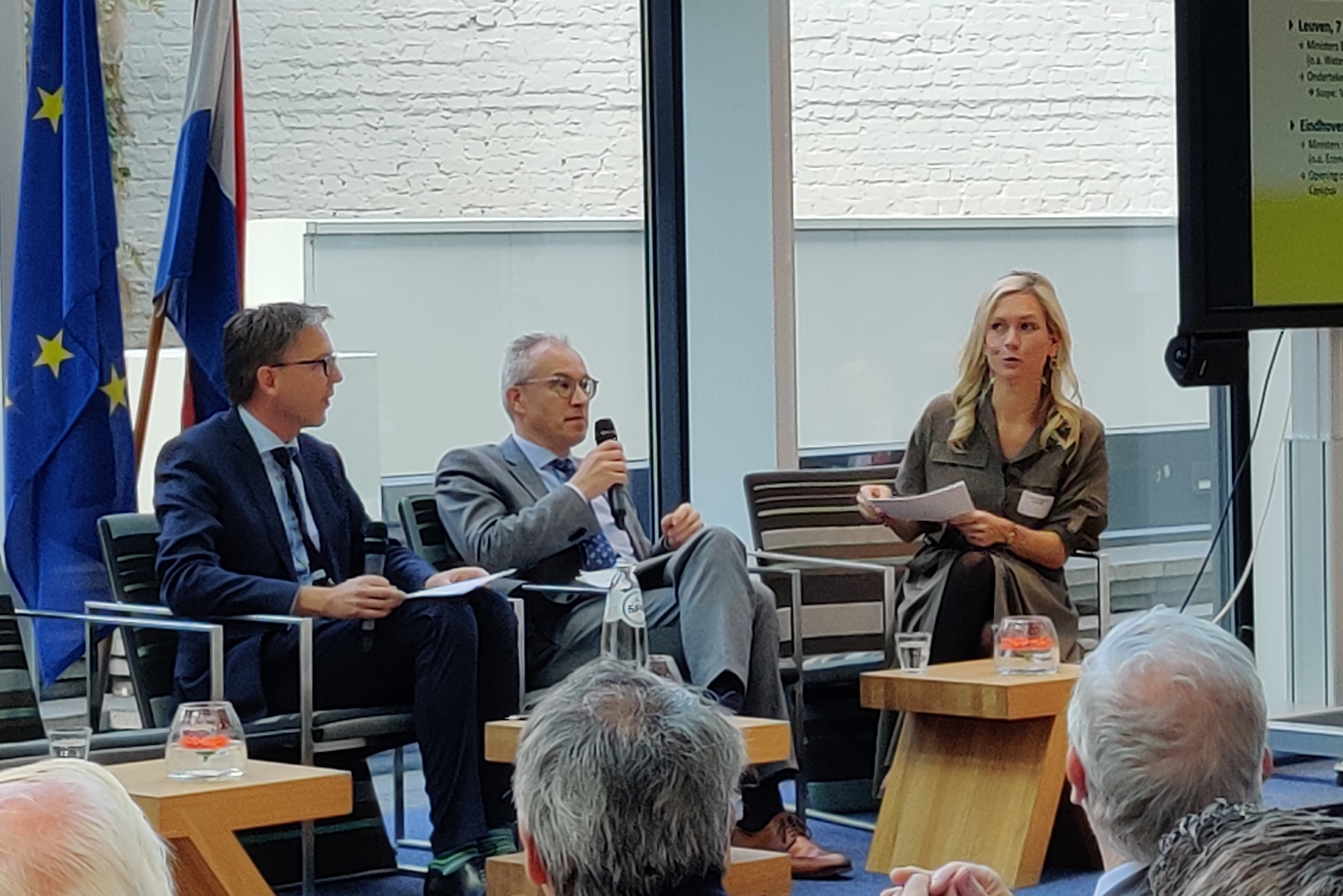 Director-general Focco Vijselaar  and secretary-general Johan Hanssens  at the SI-day in Brussels