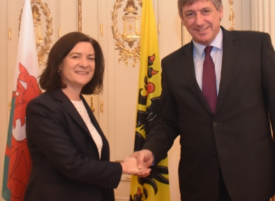 Minister Morgan (Wales)  and minister-president Jambon