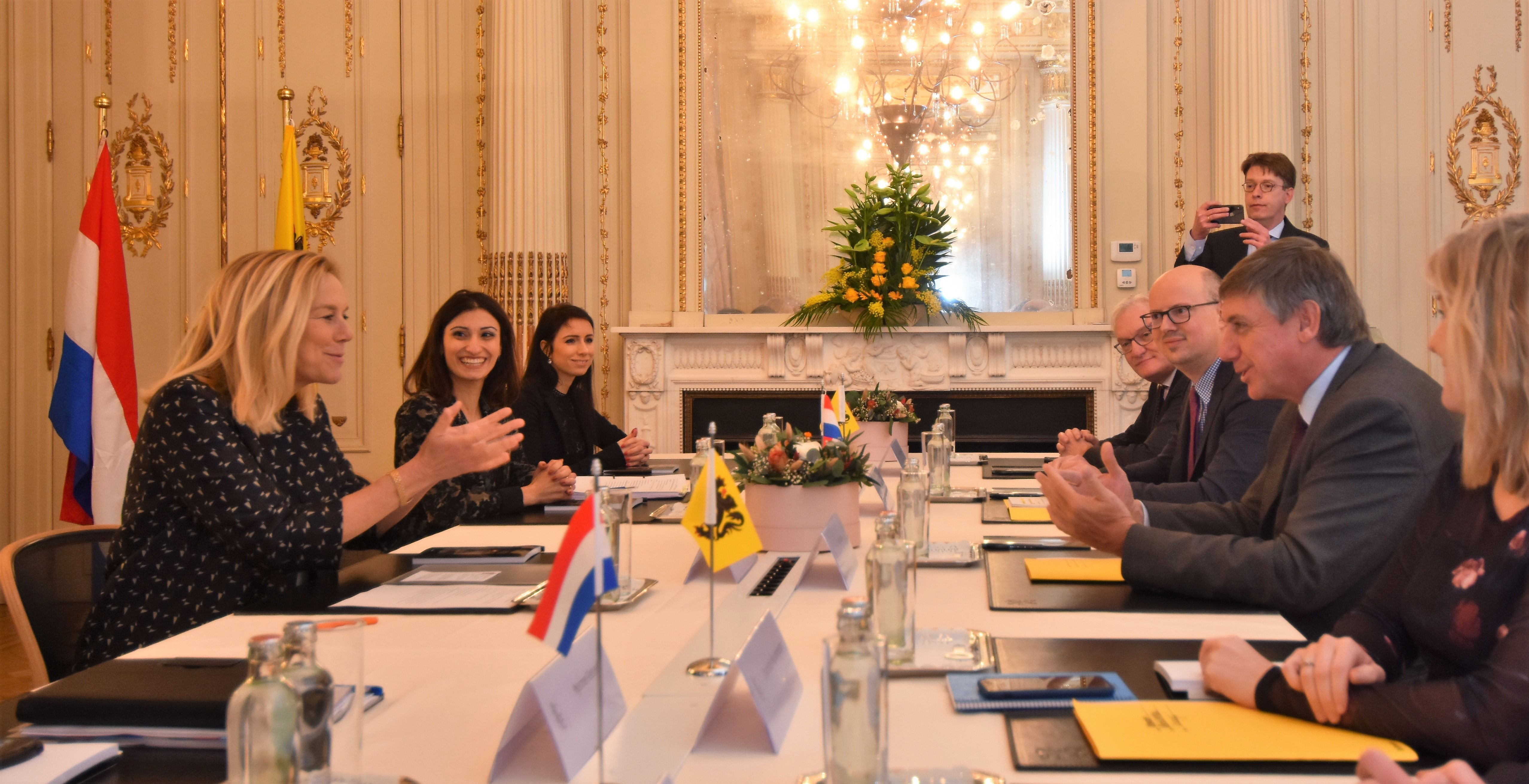 meeting Dutch  minister Kaag and minister-president Jambon