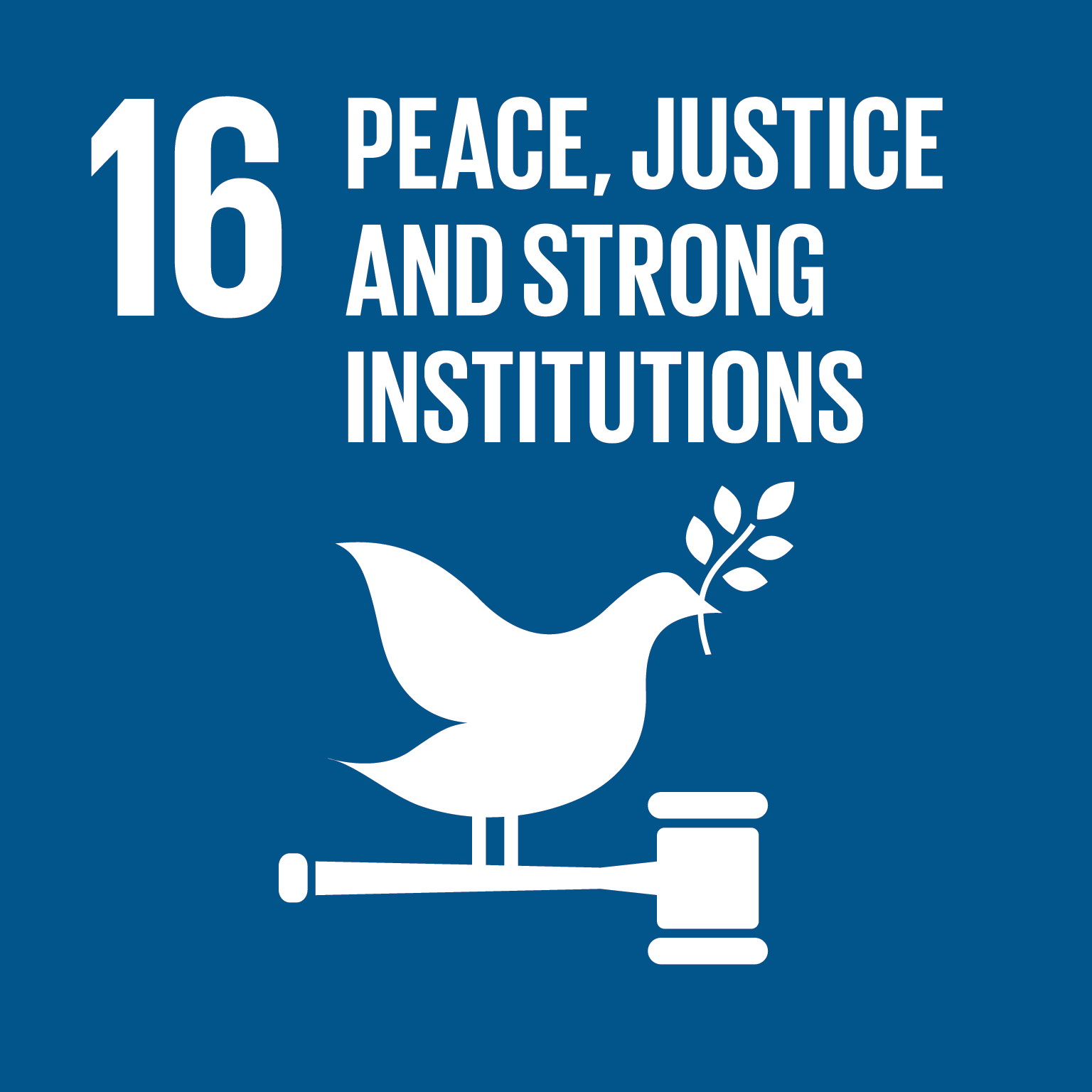 SDG 16 Peace justive and strong institutions